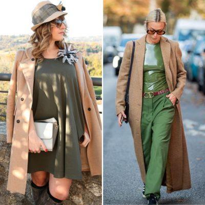 Color cammello e verde