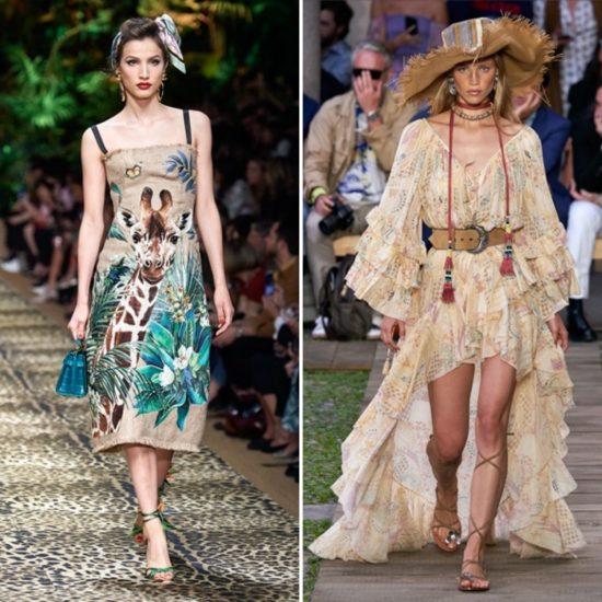 Rafia - abito Dolce&Gabbana e cappello Etro