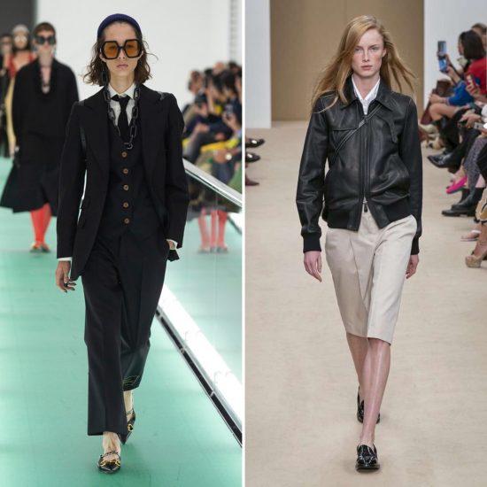 Mannish style Tendenze moda 2020 Gucci Tod's