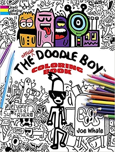 The Official Doodle Boy Coloring Book: Book Cover