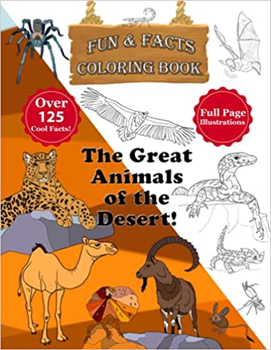The Great Animals of the Desert Coloring Book