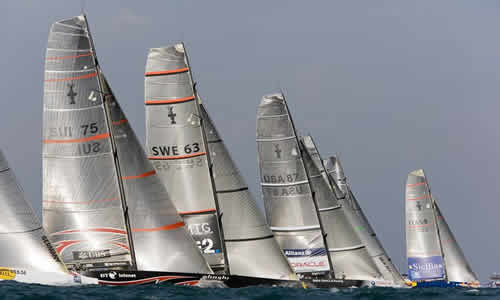 Asia Hoisted The Mainsail for The America's Cup