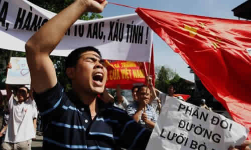 Hanoi: At least 12 Arrested in a Protest Against China