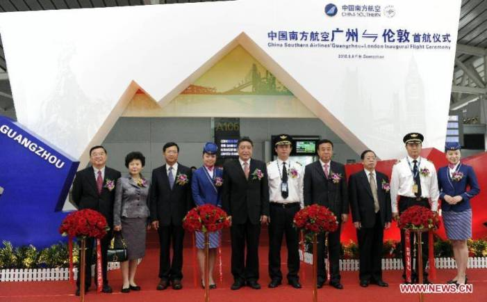 China Southern Airlines to launch Guangzhou-London direct route