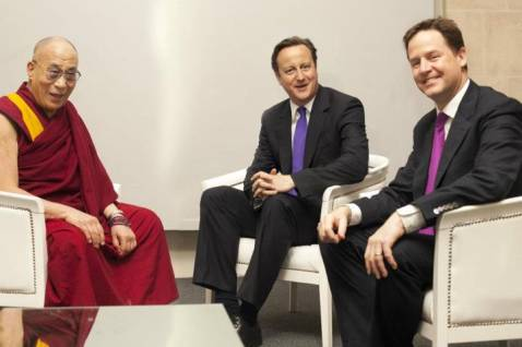 China canceled the summit with the British because of the Dalai Lama's visit