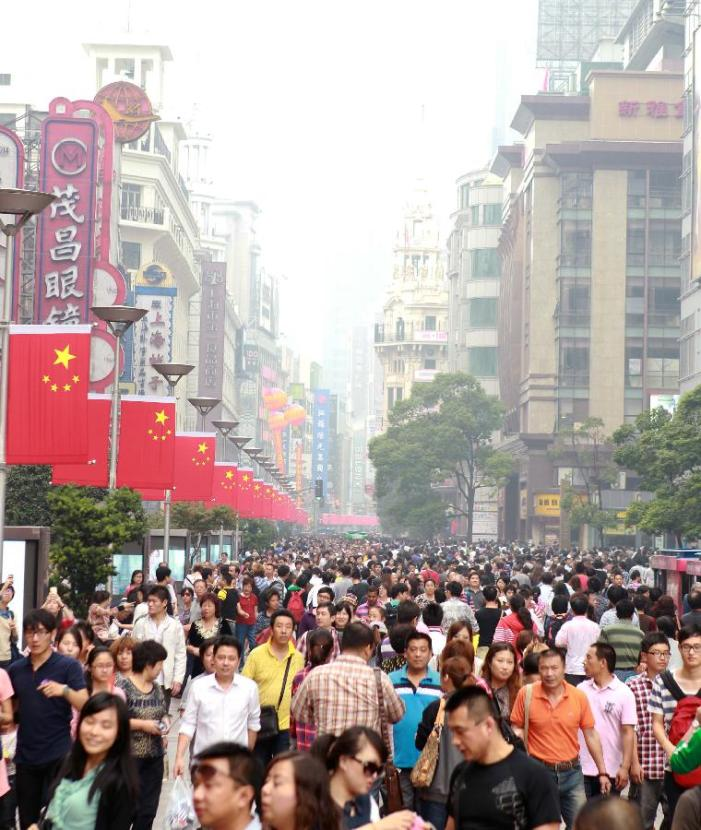 China sees holiday tourism peaks