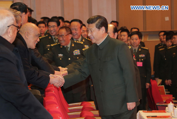 Xi extends festival greetings to veterans