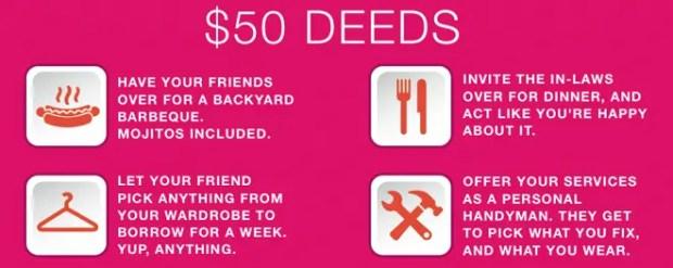 $50 dollar deeds