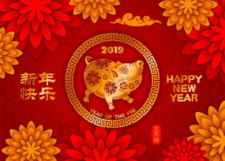 lunar year of the pig 2019