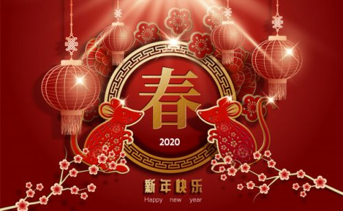 Korean New Year 2020.Chinese Horoscope 2020 Year Of The Metal Rat