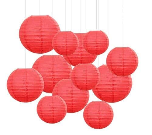 red lanterns for chinese new year 2020