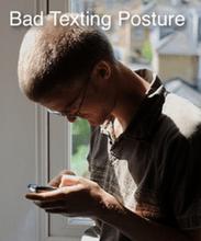 poor texting posture