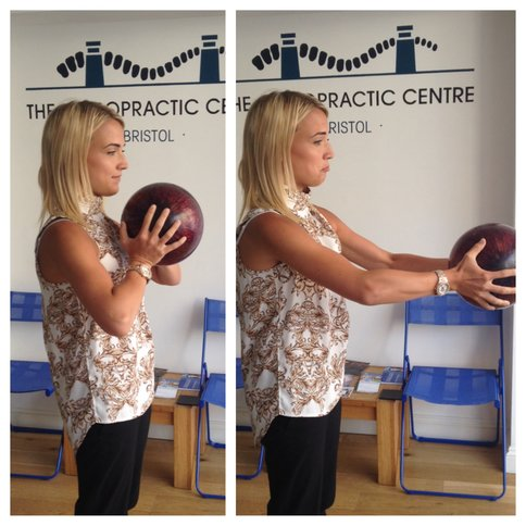 weight of head bowling ball demonstration