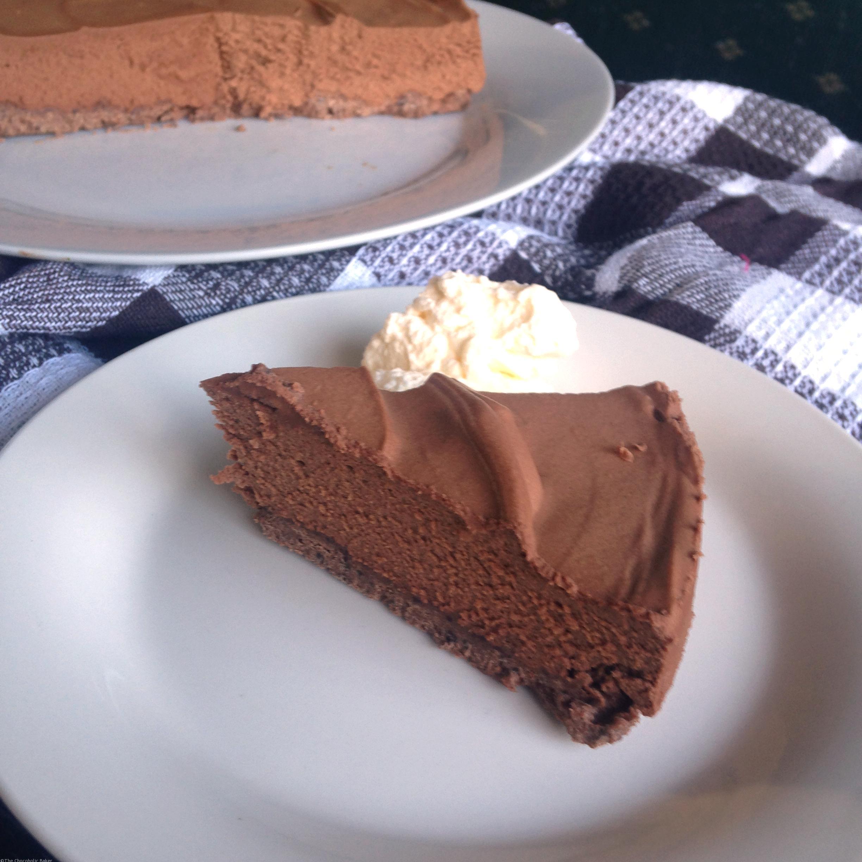 Chocolate Mint Cheesecake - The Chocoholic Baker