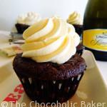 Chocolate Champagne Celebration Cupcakes