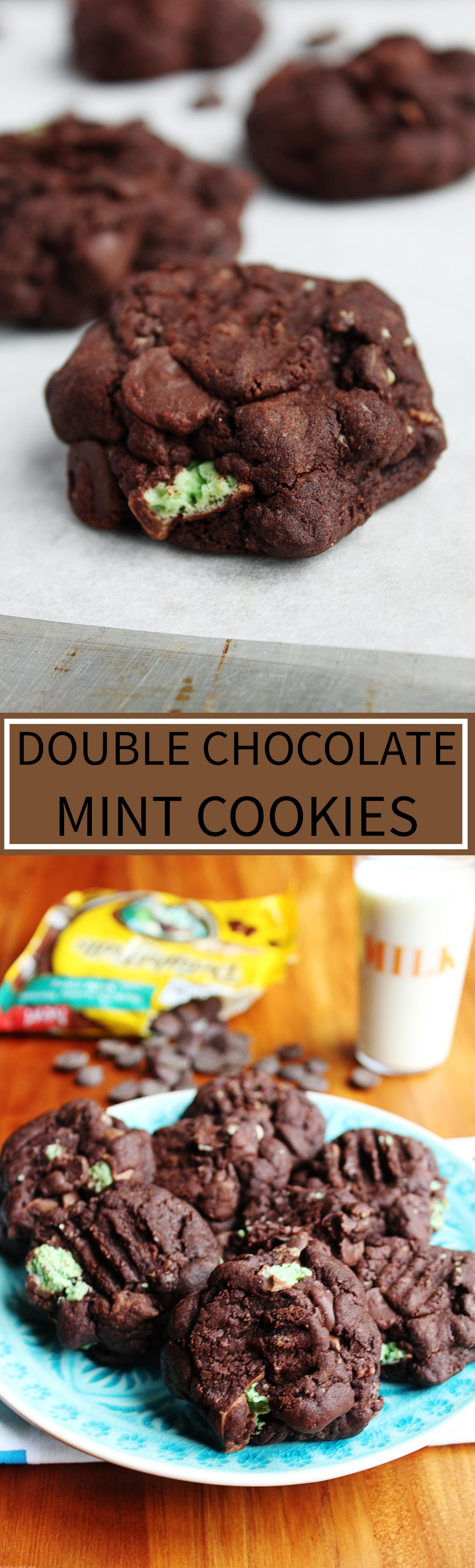 Double Chocolate Mint Cookies - The Chocoholic Baker