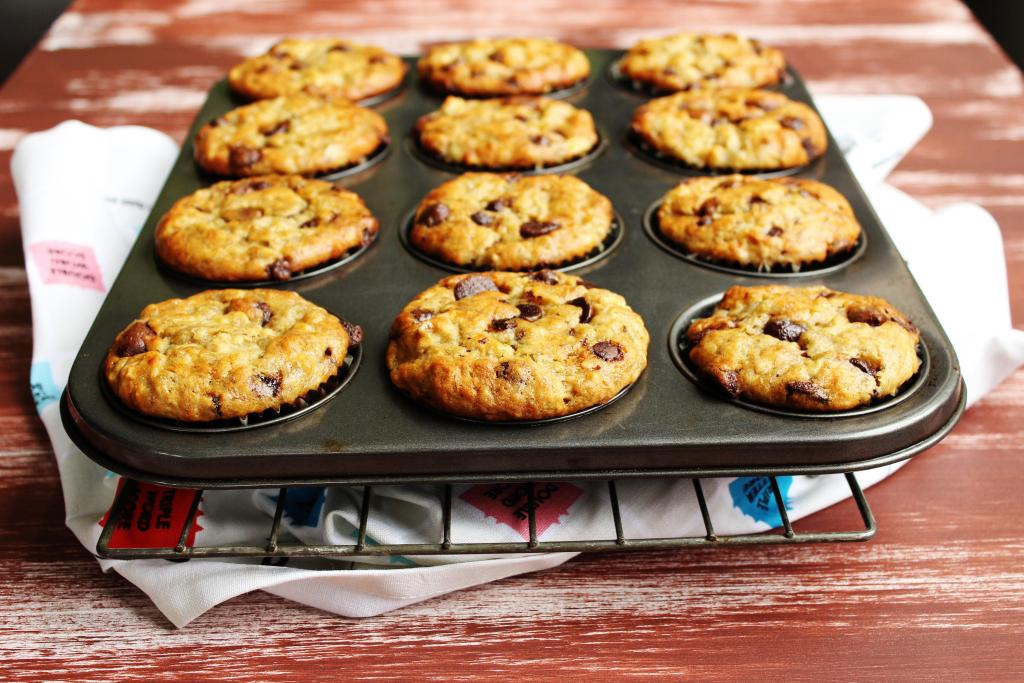 Banana Chocolate Chip Muffins - The classic muffin made even more insanely delicious with extra bananas and a special secret ingredient.
