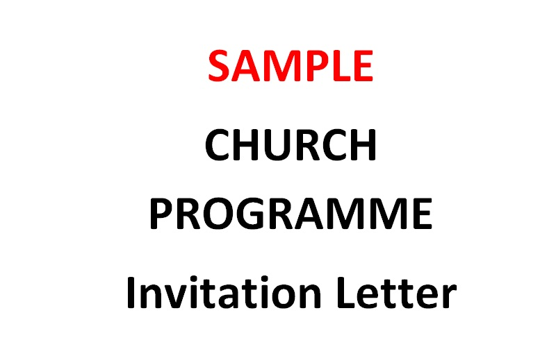 Sample Invitation Letter Inviting A Church To A Worship Event