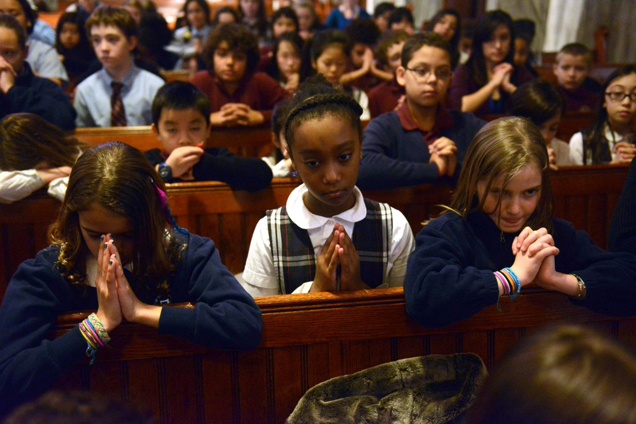 Image result for children praying in church