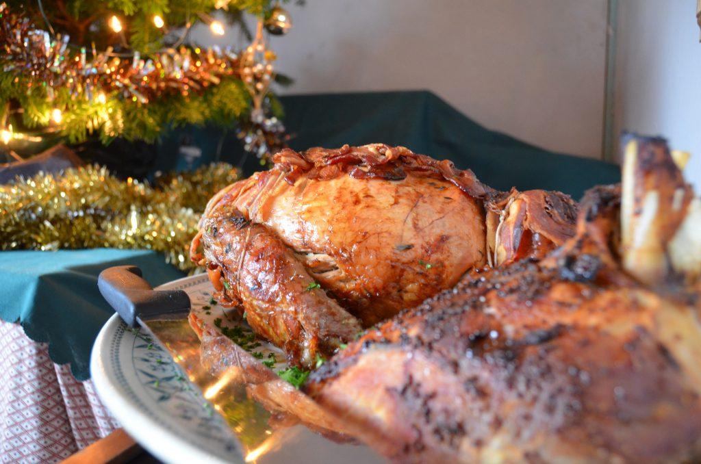 Roast goose and ham