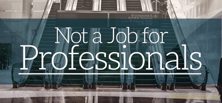 Not a Job for Professionals - Evangelism; Discipleship