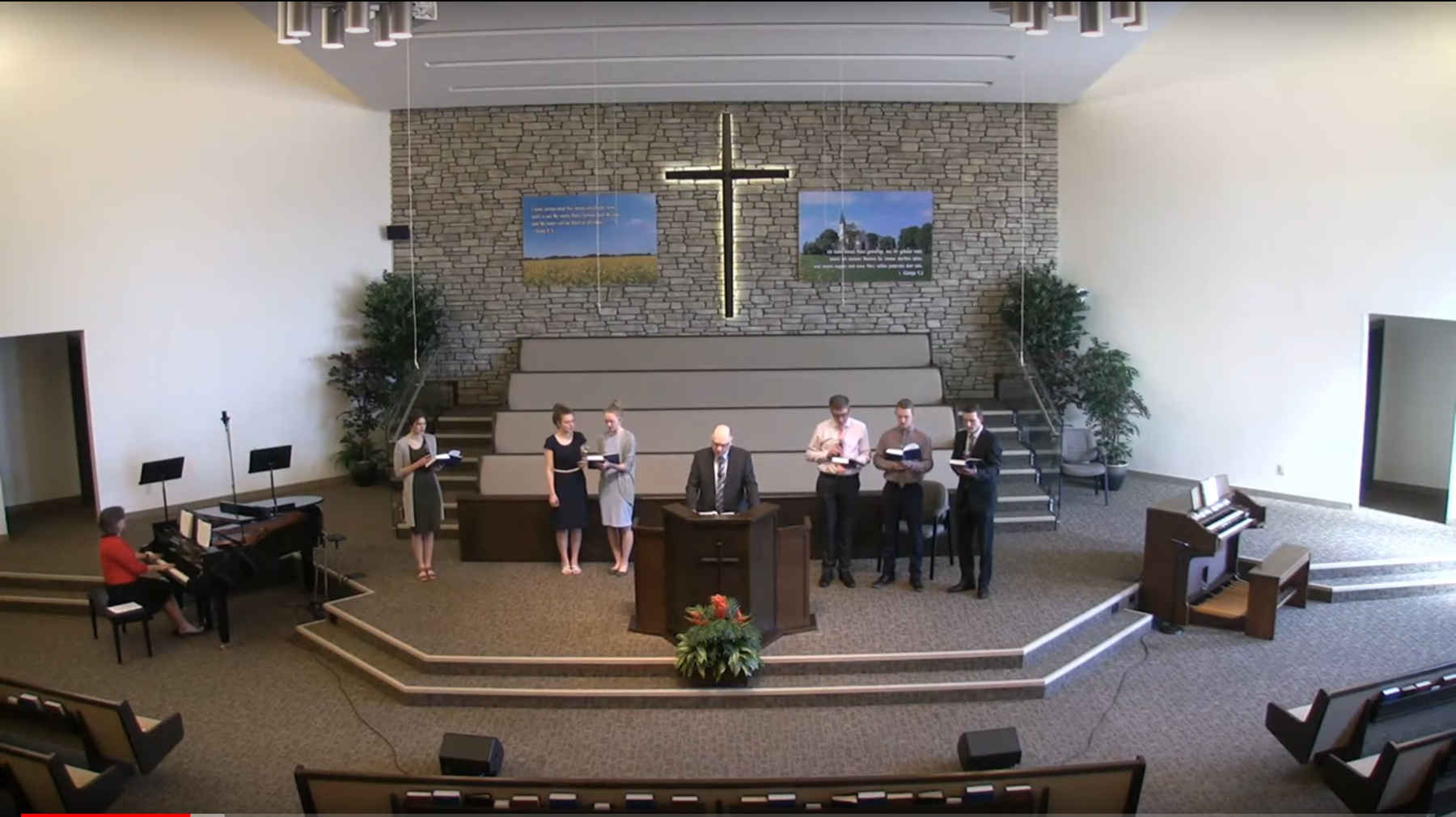 Gemeindelied im Gottesdienst in Steinbach (CA)