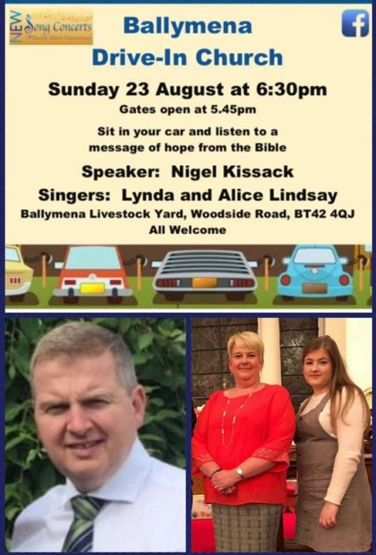 Drive In Church - Ballymena Livestock Yard – Sunday 23th August 2020