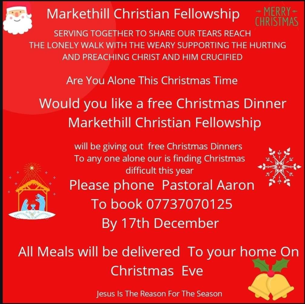 Markethill Christian Fellowship plan to feed the needy at Christmas