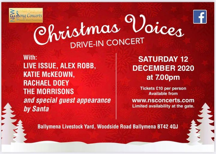 Christmas Voices Drive In Concert on Saturday 12th December 2020