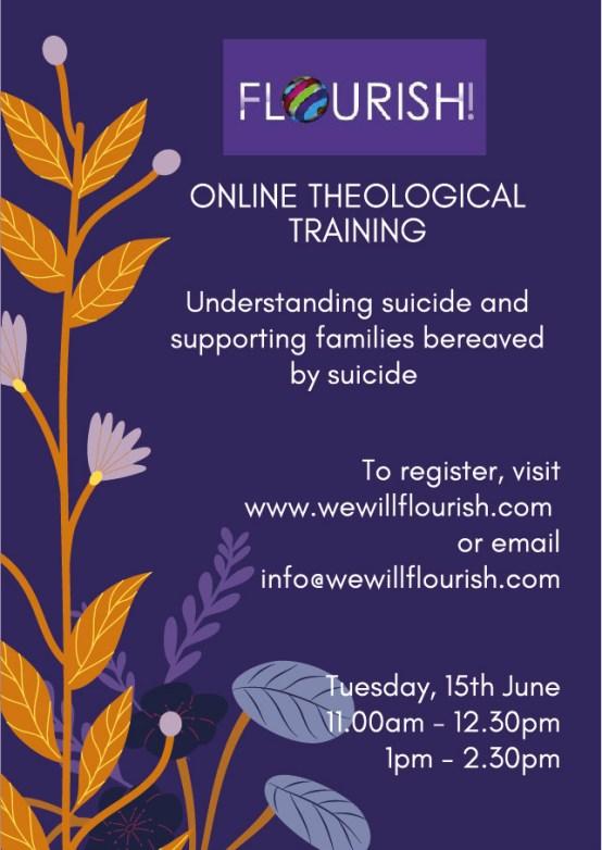 Flourish Suicide Prevention Online Training – Tuesday 15th June 2021