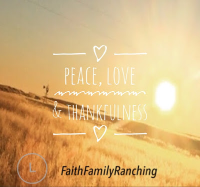 A Sunday Thought~Peace, Love And Thankfulness