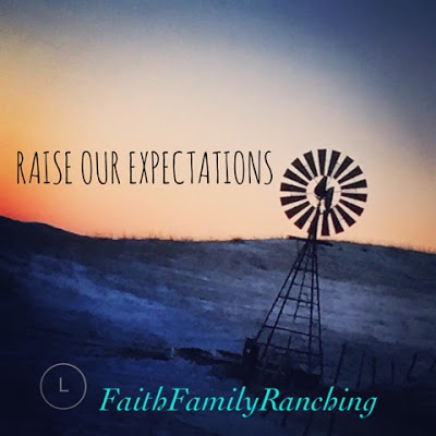 A Sunday Thought~Raise Our Expectations