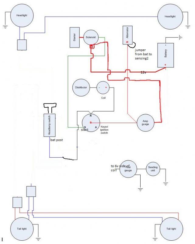 1955 willys jeep alternator wiring  wiring diagram for 2004