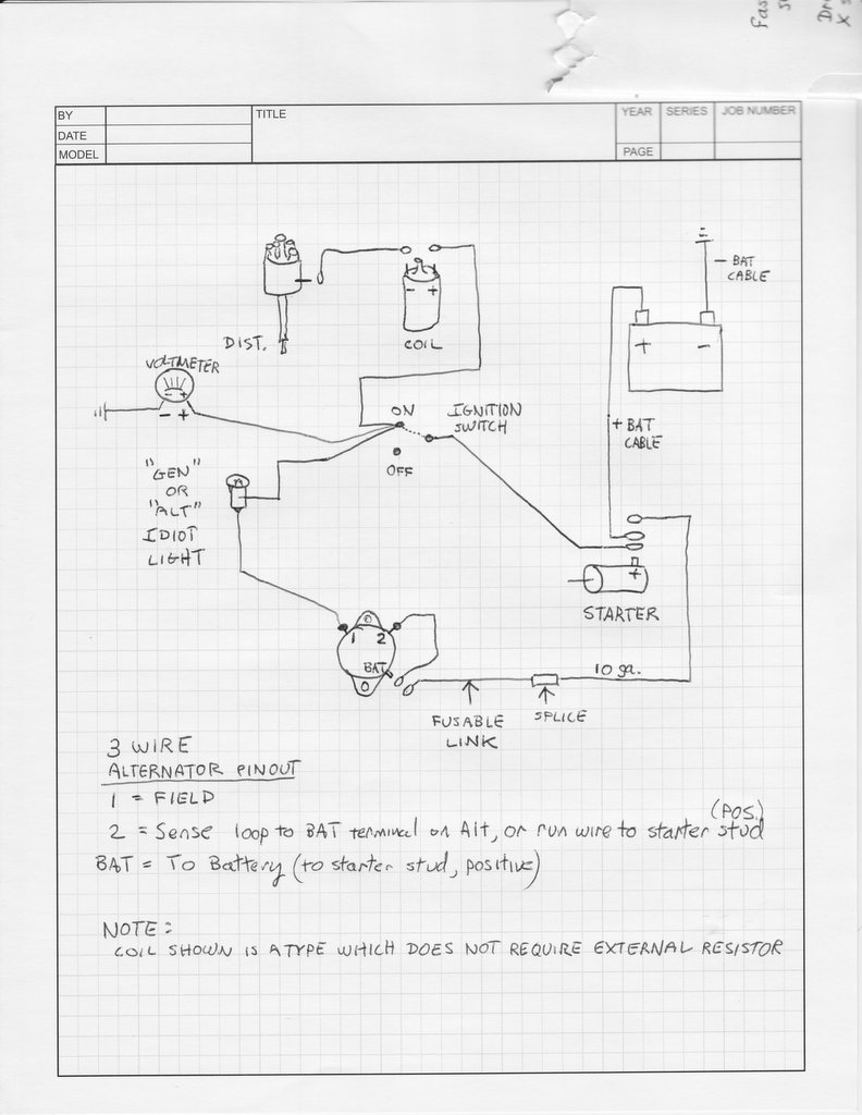 Famous 12 volt alternator wiring diagram images wiring diagram