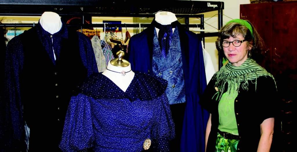 Costume designer Alva Bradford works in Niemeyer.
