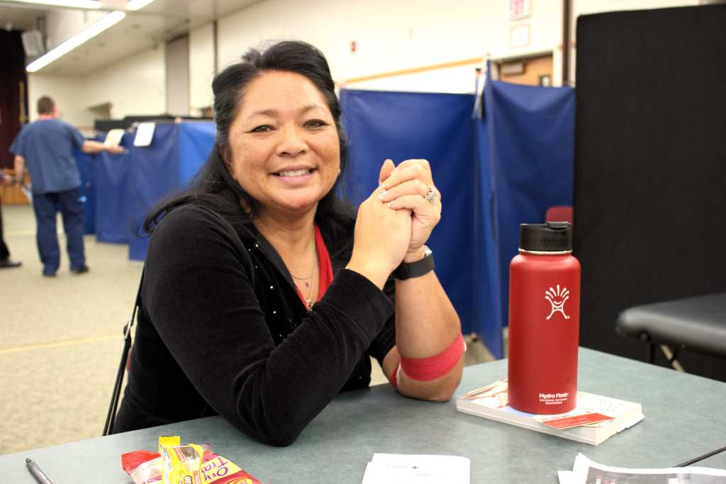 Cindee Lacuna, a CCC Graduate after donating blood.