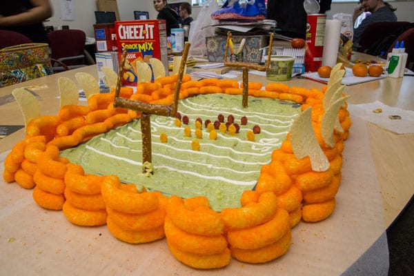 Cheetolicious and groovy guacamole stadium was built by the Clackamas Print staff.