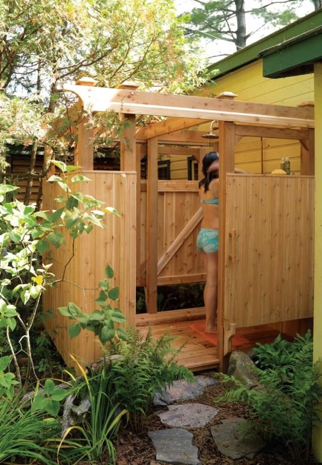 Outdoor Shower Plans Designs