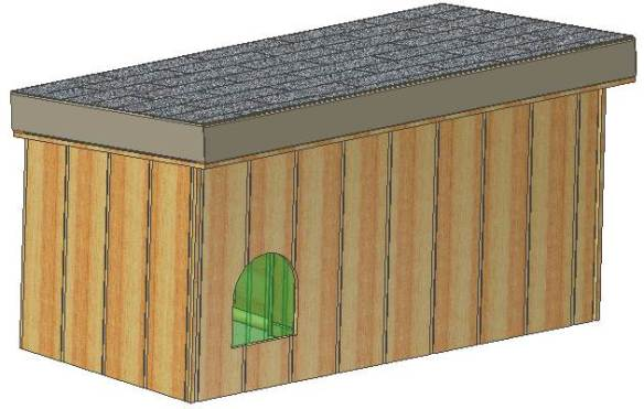 Custom Design Insulated Dog House Plans  Large Dogs  St  Bernard  72     doghouse plans