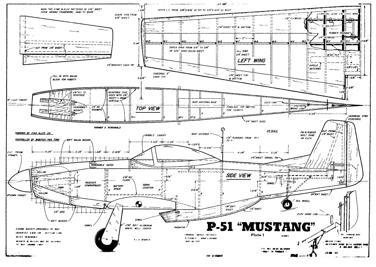 175 Small Amp Medium Scale Rc Model Airplane Plans Military