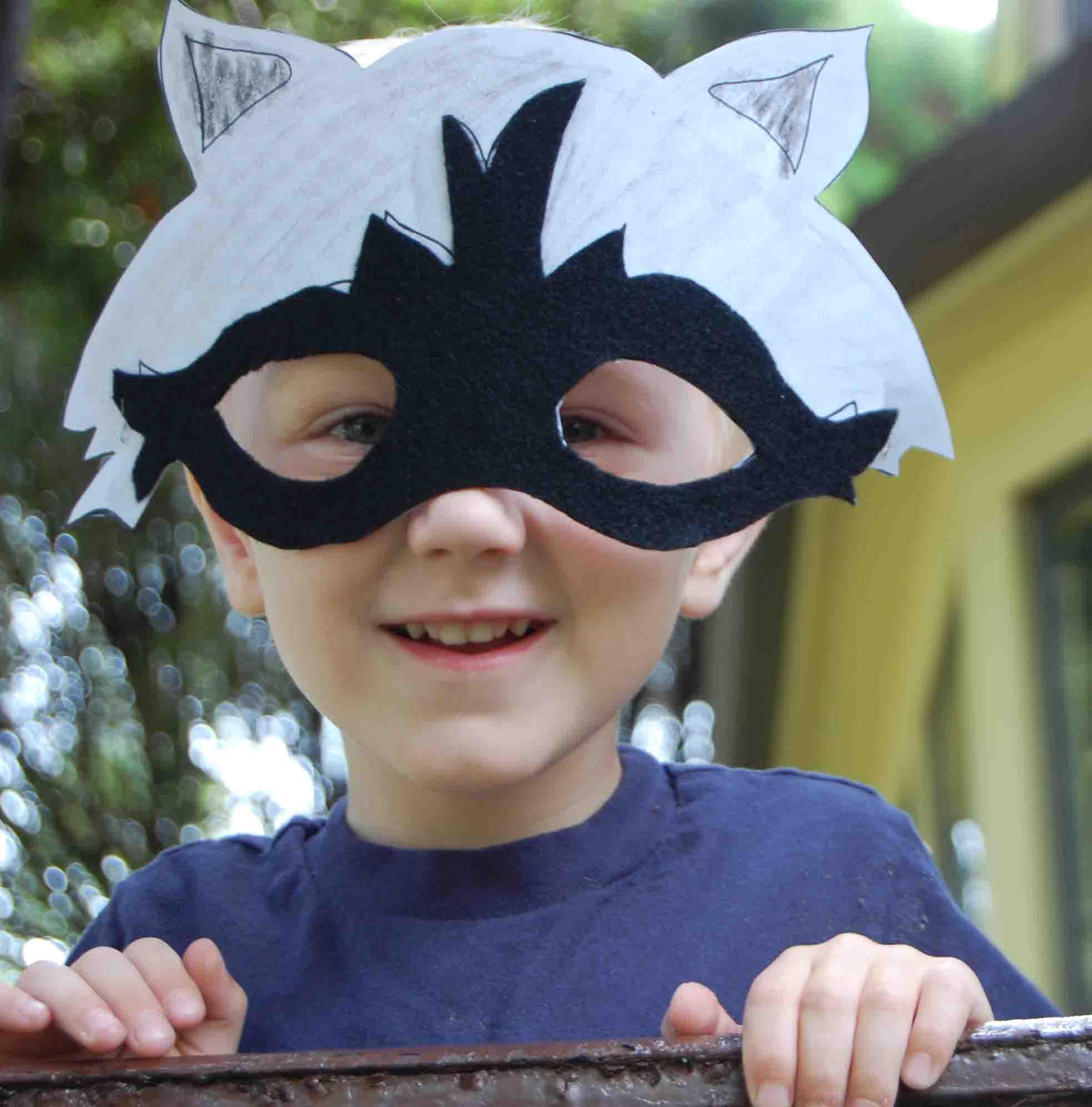 Free Printable Fall Raccoon Mask
