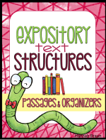 Expository Text Structures ($) reading passages and graphic organizers that teach kids the five main nonfiction text strctures
