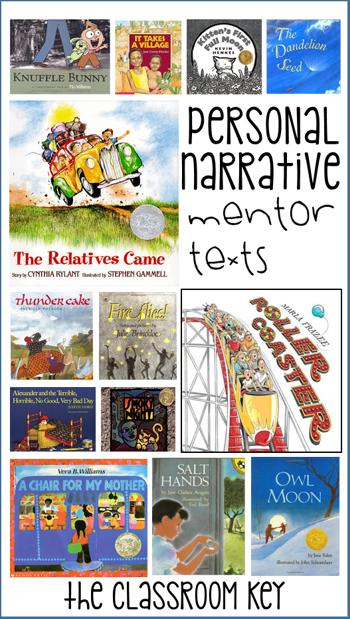 Personal Narrative Writing The Classroom Key