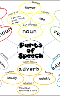 parts of speech web, FREE printables