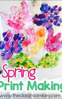 Spring printmaking activity