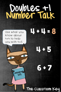 Doubles +1 Number Talk, a strategy for building number sense in just 10 minutes a day