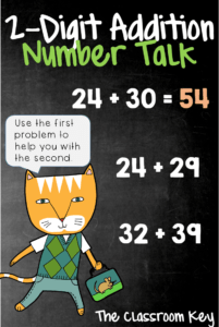 2-Digit Addition Number Talk, a strategy for building number sense in just 10 minutes a day