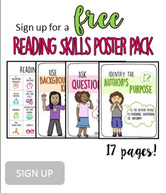 FREE reading skills poster pack