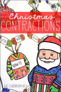 Christmas sweater contractions FREEBIE