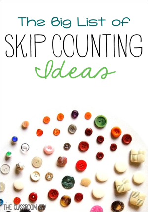the big list of skip counting ideas and activities